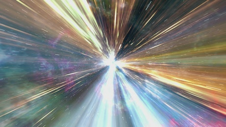 Crossing the universe at light speed