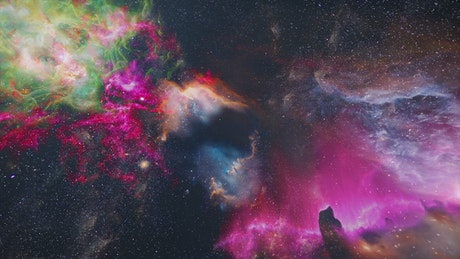 Crossing the universe between nebulae and galaxies
