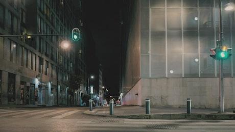 Crosswalk at night