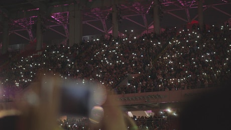 Crowded concert hall