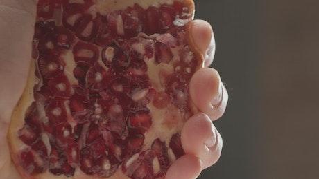Crushing a Pomegranate