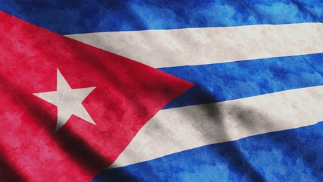 Cuban flag waving