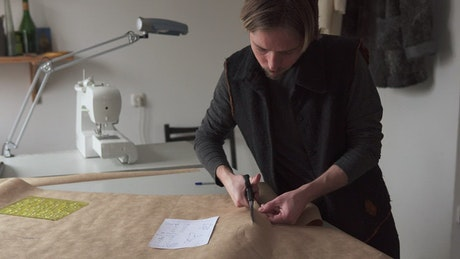 Cutting out a clothing pattern