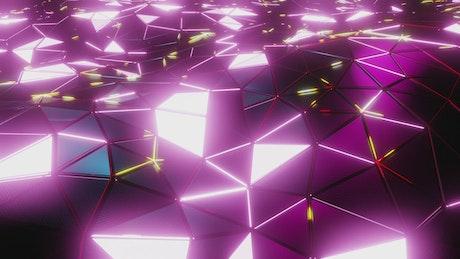 Cyberpunk style purple laser lights surface