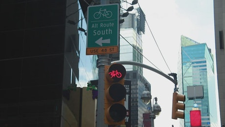 Cycling signs in the city