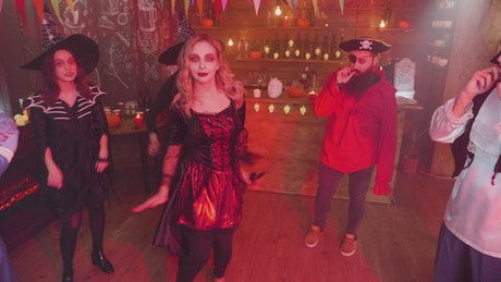 Dancing at a Halloween party