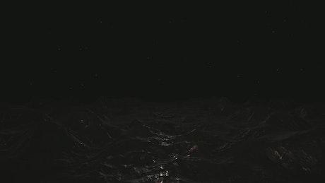 Dark cave, 3D loop animation