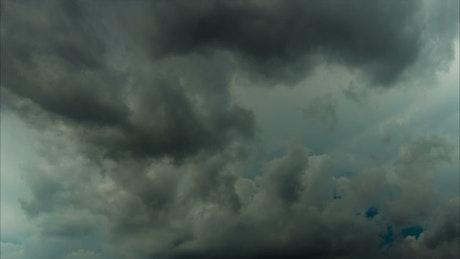 Dark clouds in the tropics