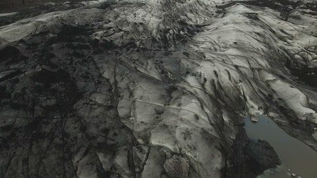 Dark ice melting