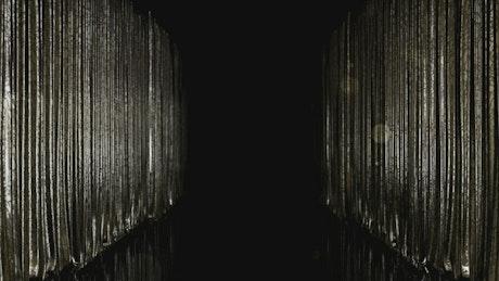 Dark stage curtains, loop video