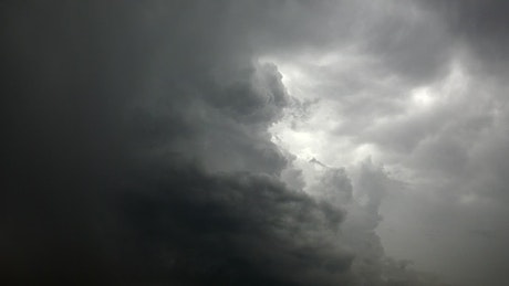 Dark stormy clouds in the sky