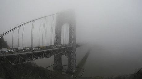 Deep fog on the Washington Bridge