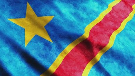 Democratic Republic of the Congo 3D render flag