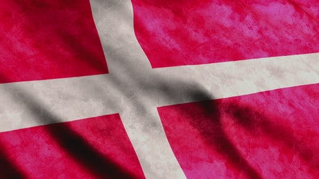 Denmark flag, 3D animation
