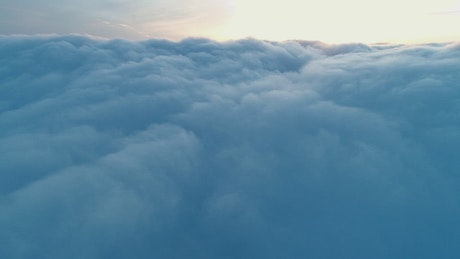 Dense clouds texture, high aerial view
