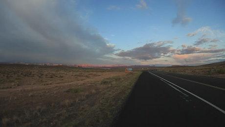 Desert road timelapse