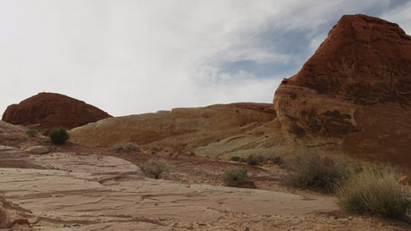 Desert with rock formations