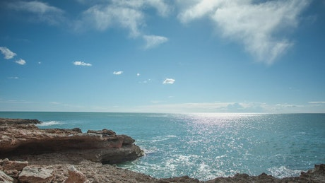 Deserted coastline, timelapse