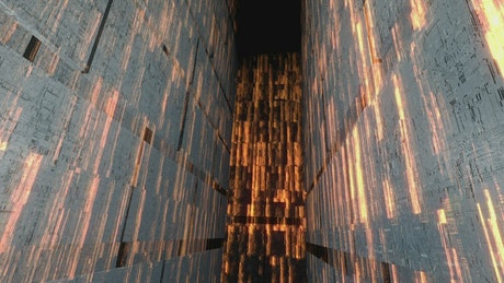 Digital blocks of information in a 3D world