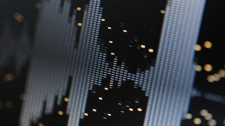 Digital equalizer, close up