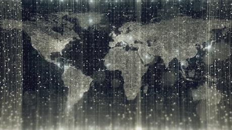 Digitized world map