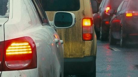 Dirty car bumper