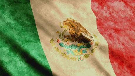 Dirty Mexico waving flag