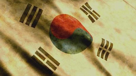 Dirty South Korea flag waving