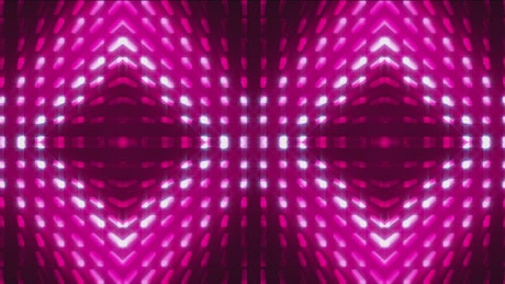 Display with rhombs of violet light oscillating