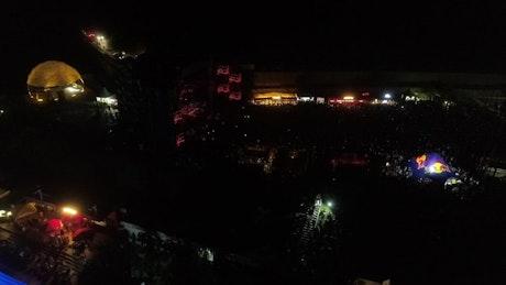 DJ on stage at night
