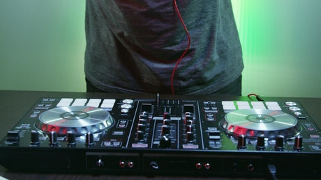 DJ working with their table