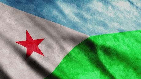 Djibouti flag in full screen