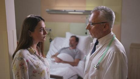 Doctor giving bad news