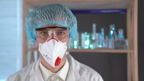 Doctor mixing some liquids