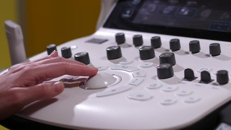 Doctor preparing an Ultrasound