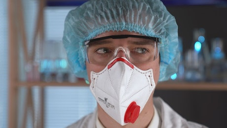 Doctor with a face mask protection