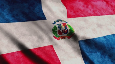 Dominican Republic flag, medium shot