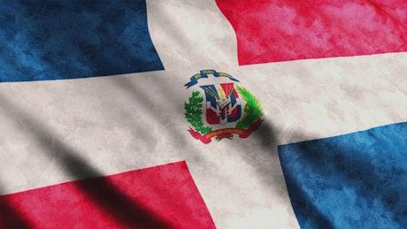 Dominican Republica 3D flag
