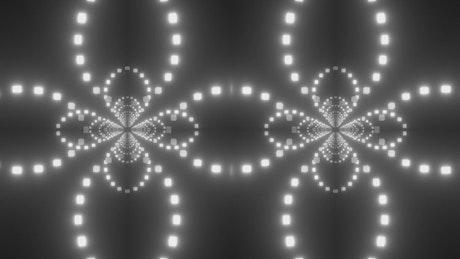 Double passageway of white light cube circles