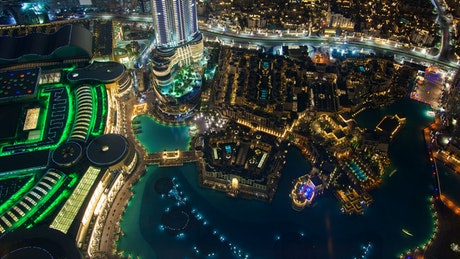 Downtown Dubai cityscape from above