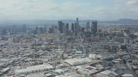 Downtown Los Angeles, drone shot