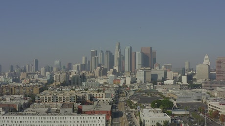 Downtown Los Angeles Skyline in California