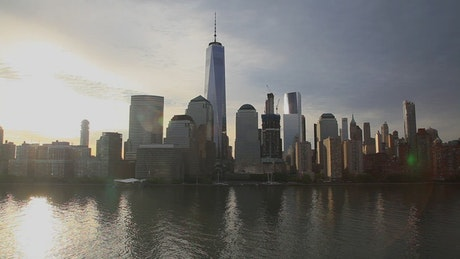Downtown Manhattan in the early light