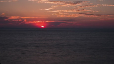 Dramatic sunrise over the ocean