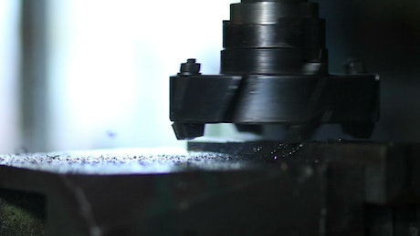 Drilling machine in a factory