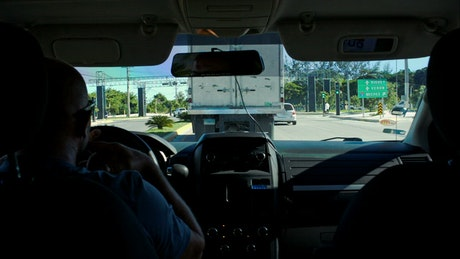 Driving behind a large truck