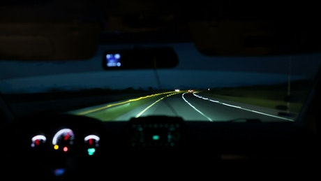 Driving home through the night