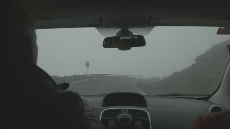 Driving through deep fog