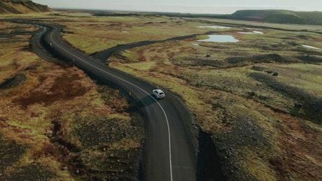 Driving through Iceland