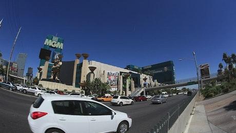 Driving through Las Vegas
